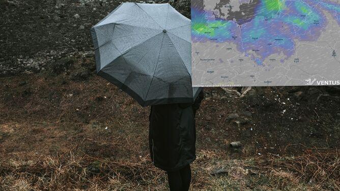 Intensywne opady deszczu i porywisty wiatr. Na pocieszenie nawet 16 stopni