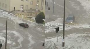 Ulice na Węgrzech zmieniły się w rzeki