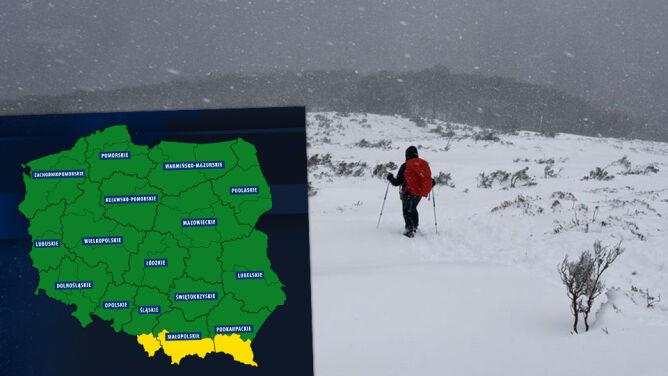 Niebezpiecznie w górach. <br />Uwaga na intensywne opady śniegu