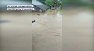 Powódź błyskawiczna była przyczyną ogromnych zniszczeń