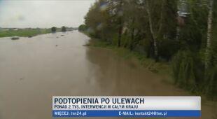W Głogówku (woj. opolskie) wzbiera rzeka Osobłoga