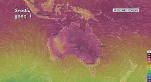 Prognoza temperatury dla Australii na kolejne dni (Ventusky)