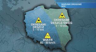 Warunki drogowe w nocy 30.01/31.01